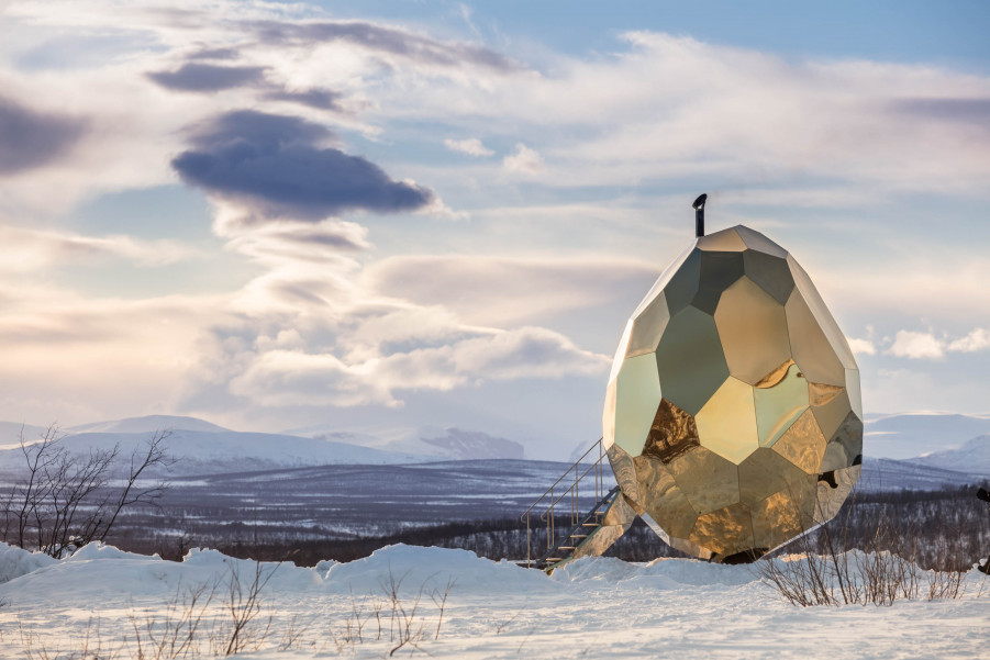Solar egg, la sauna-huevo de Kiruna <br> Foto: Jean-Baptiste Béranger