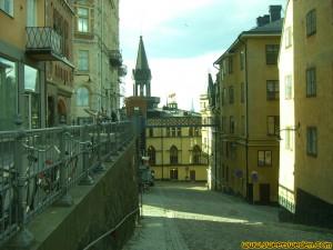 Calle de Bellmansgatan en Södermalm en Estocolmo, Suecia