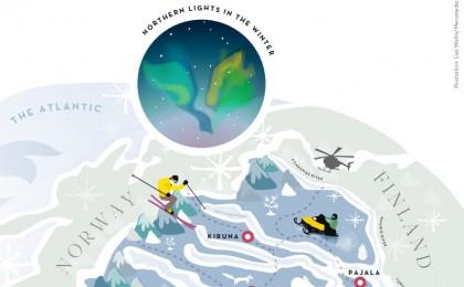 La Laponia sueca Ilustración de Lisa Wallin / Meramedia