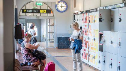 Taquillas en la estación central de Estocolmo Foto: jernhusen.se