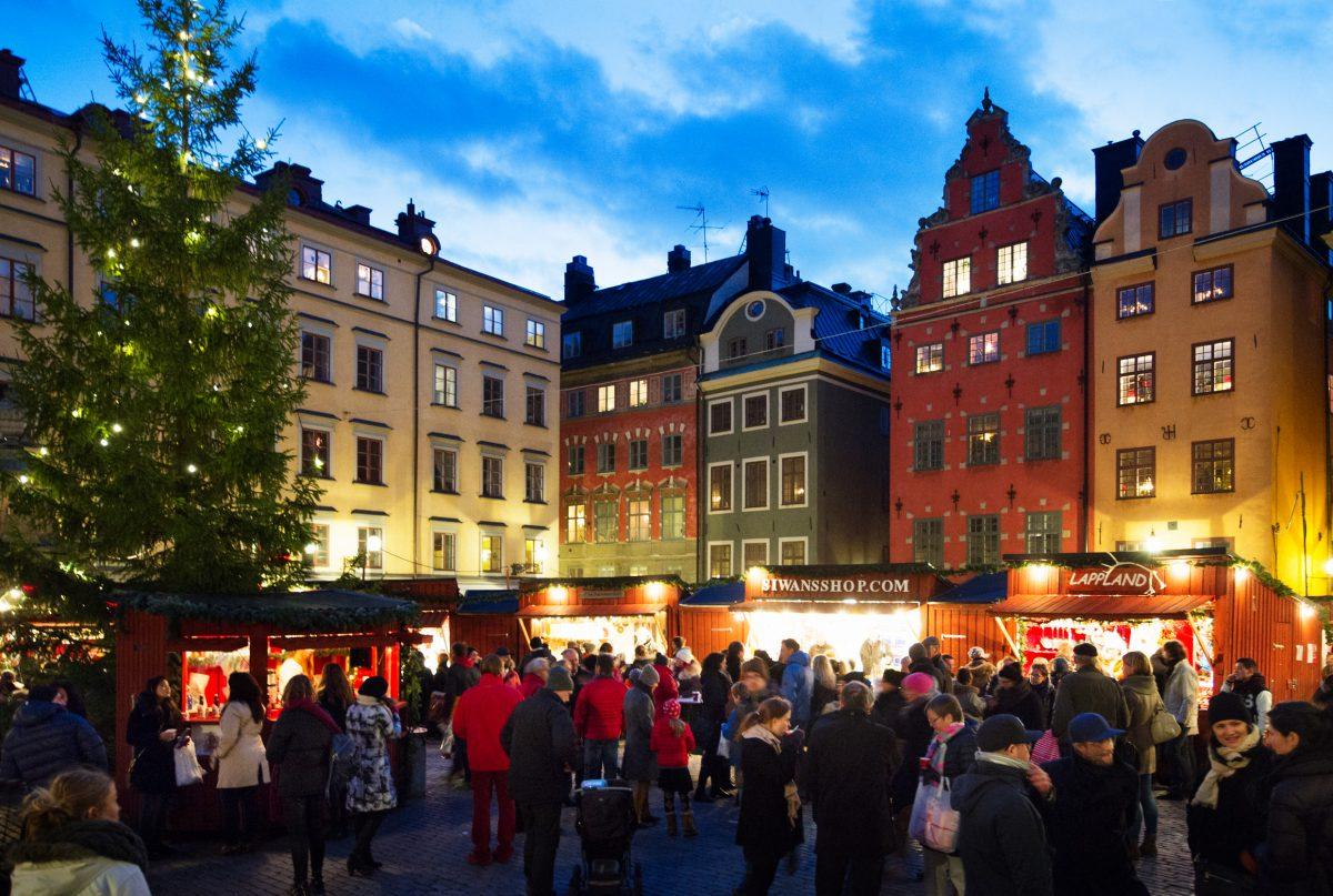Mercado de Navidad en Estocolmo <br> Foto: Ulf Ludin / imagebank.sweden.se